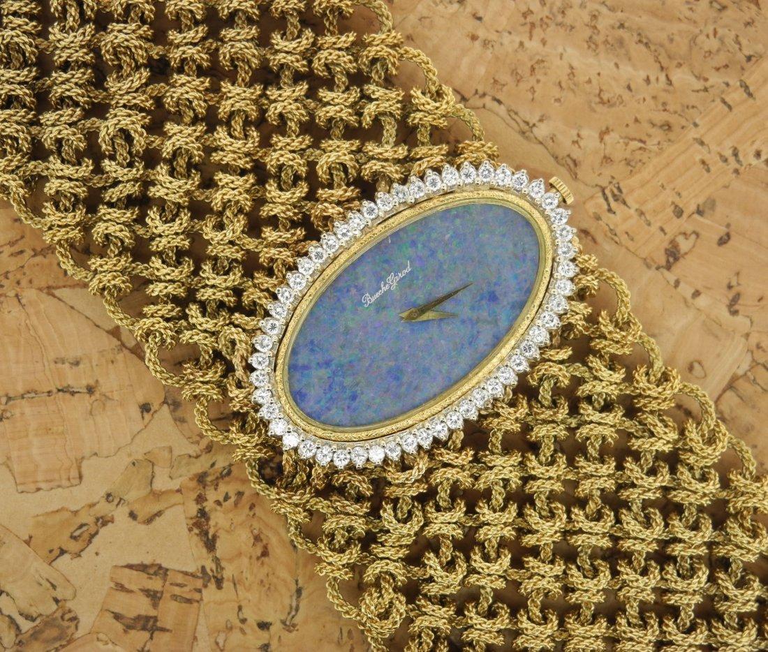 Bueche Girod Lady Mesh Bracelet & Opaline Diamond Watch