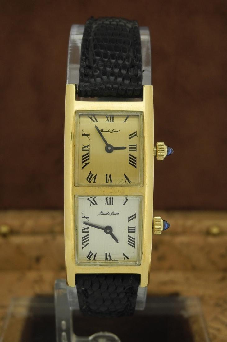 Bueche Girod Dual Time Watch in 18K Yellow Gold