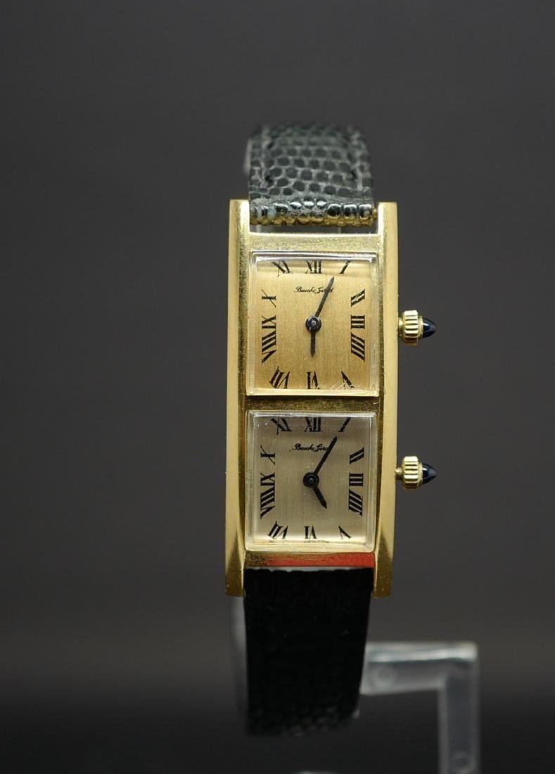 Bueche Girod Dual Time Watch in 18K Yellow Gold - 5