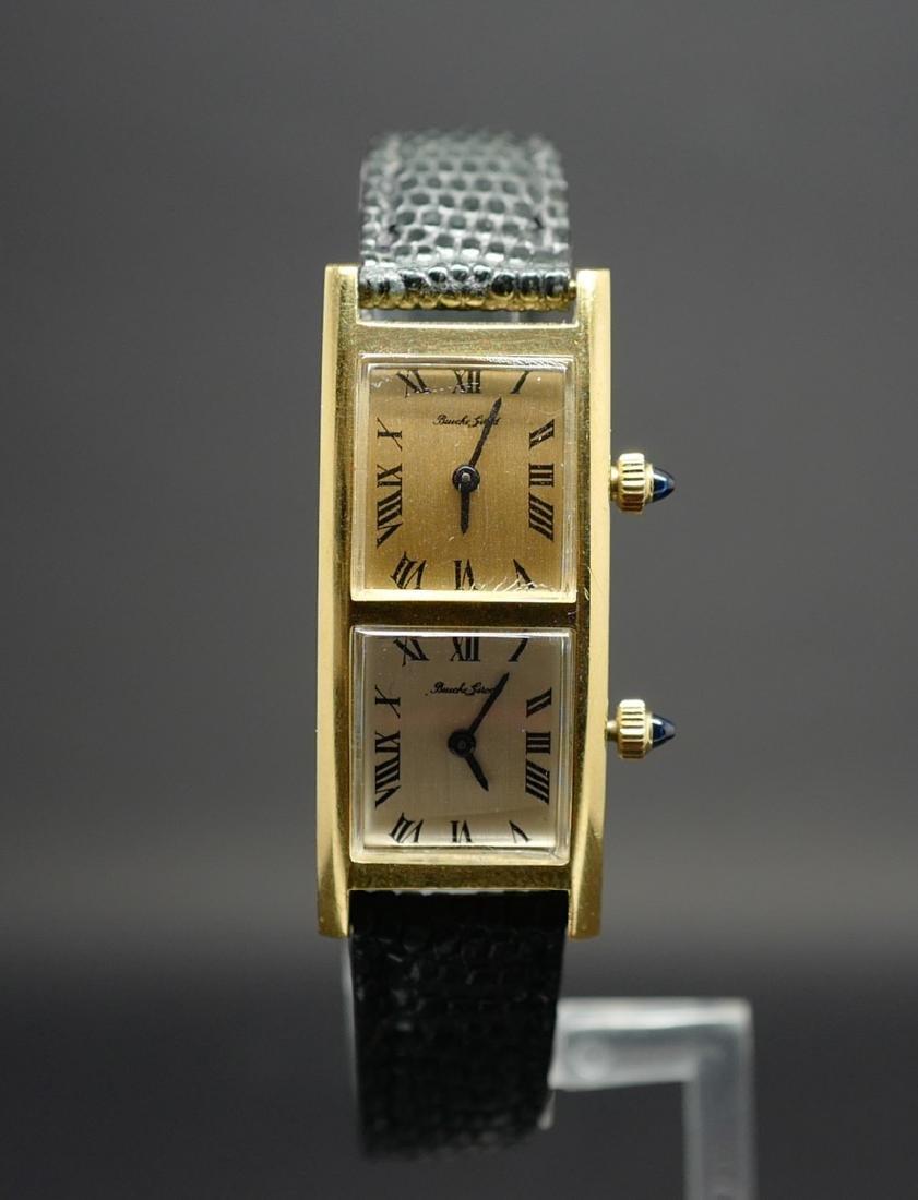 Bueche Girod Dual Time Watch in 18K Yellow Gold - 6