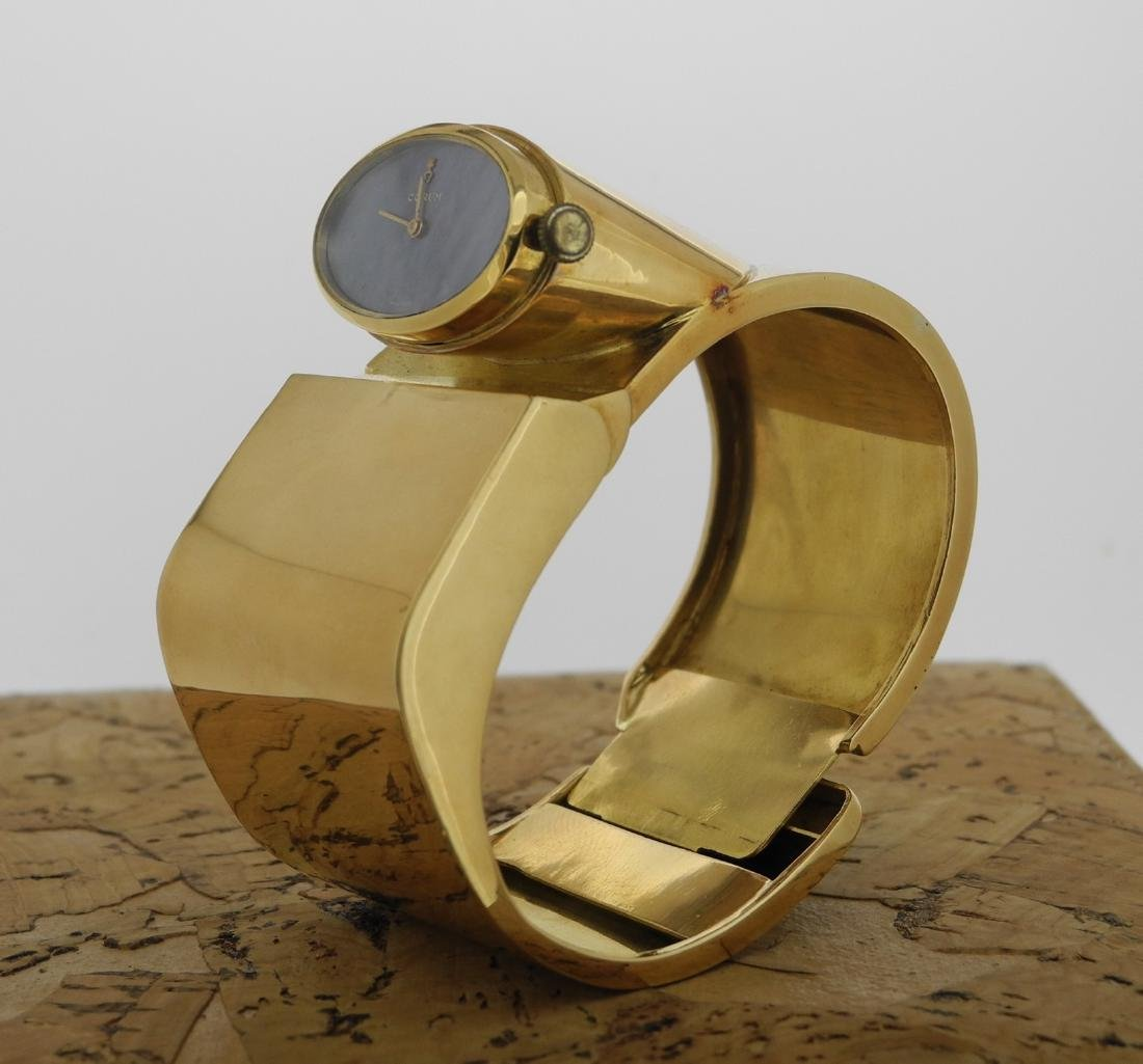 Corum Lady Cuff in Yellow Gold with Mother Pearl Dial - 2