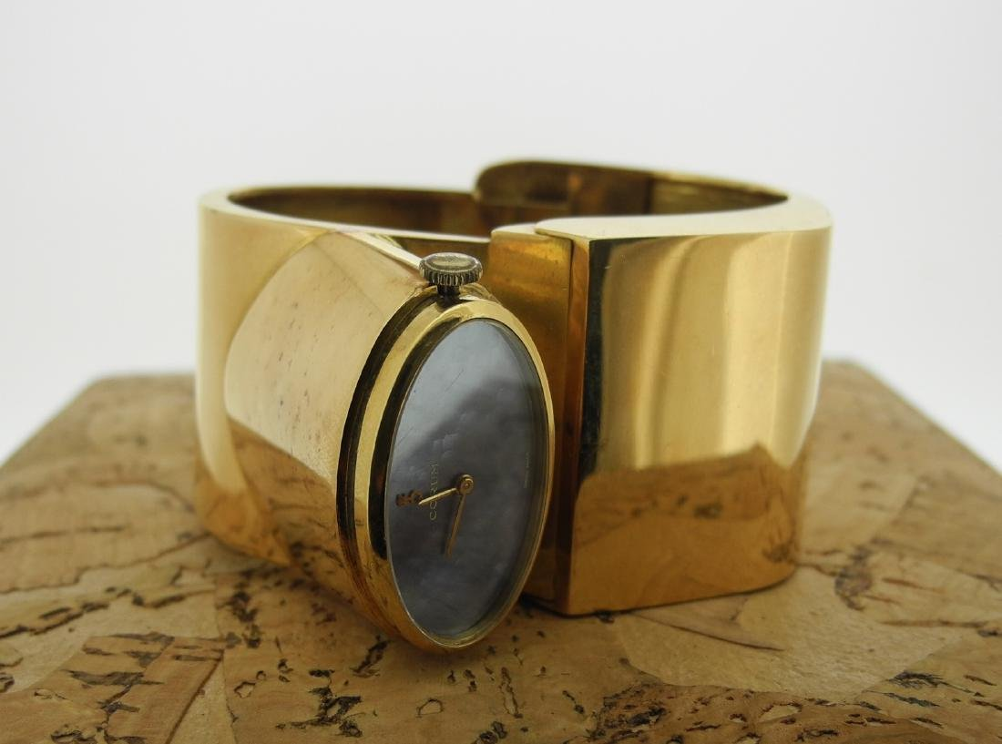 Corum Lady Cuff in Yellow Gold with Mother Pearl Dial - 6