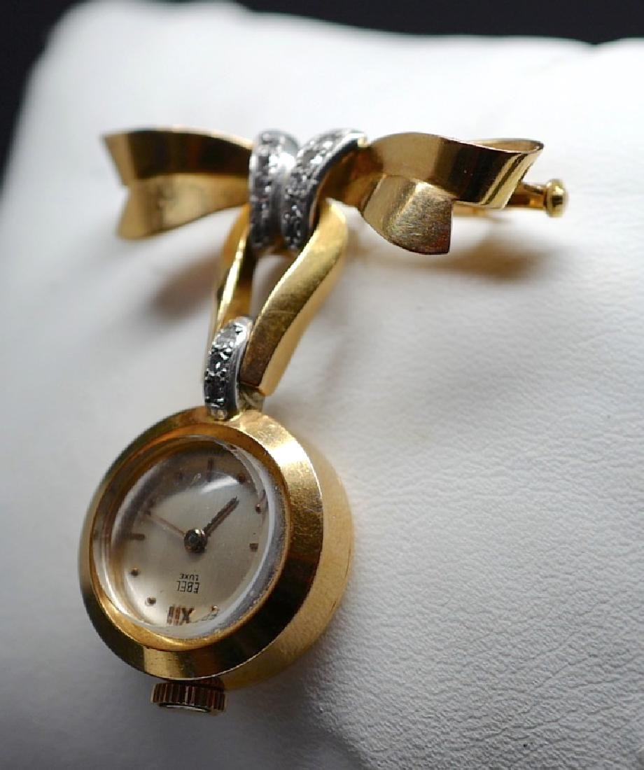 Ebel Lux Lapel Pin in Yellow Gold with Diamonds - 5