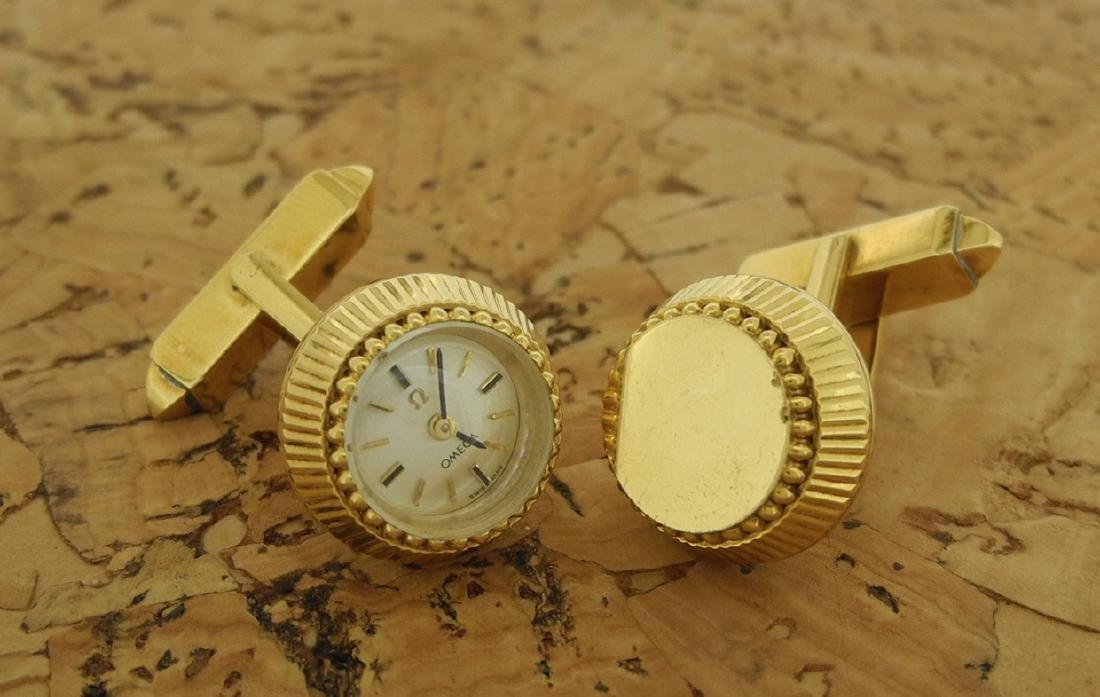 Omega Cufflinks in 18K Yellow Gold