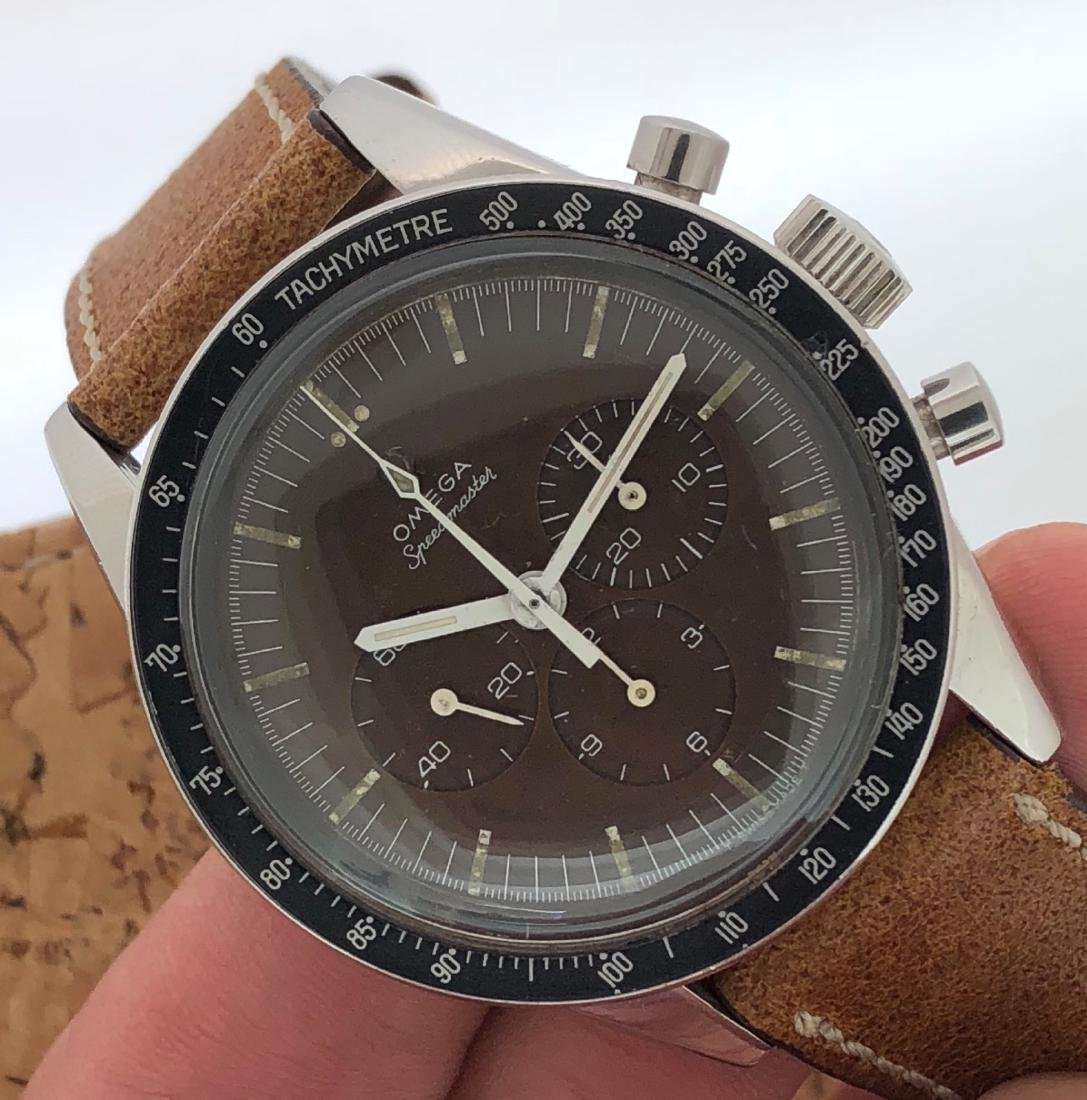 Omega Speedmaster 105.003 with Brown Dial on Strap - 7