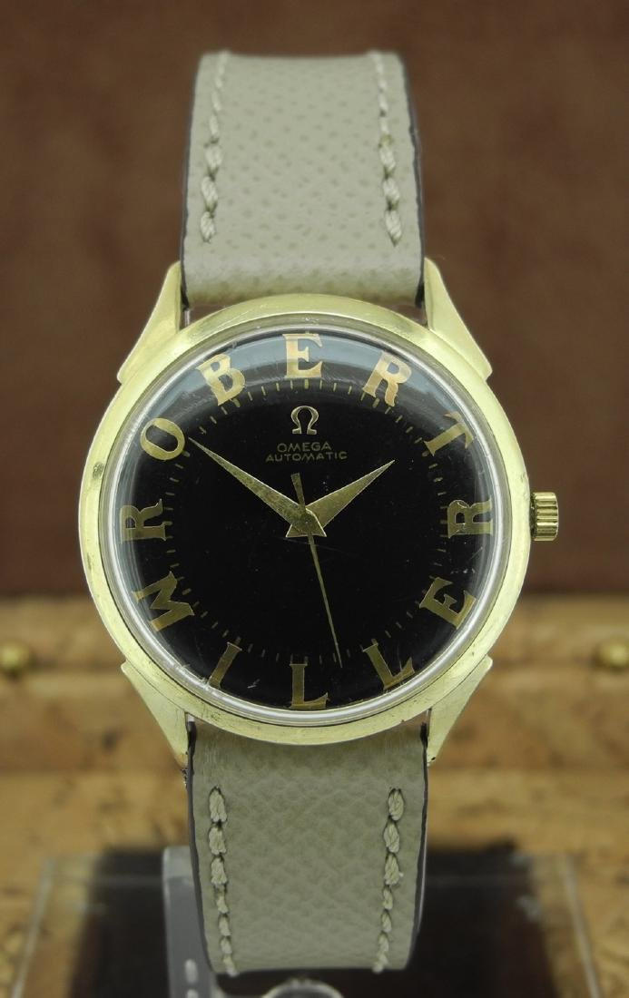 Omega Only Time Center Seconds Watch with Unique Dial