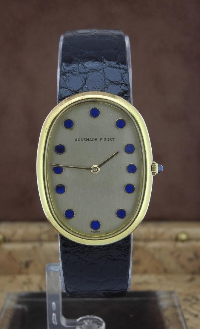 Audemars Piguet Only Time Watch with Lapis Index