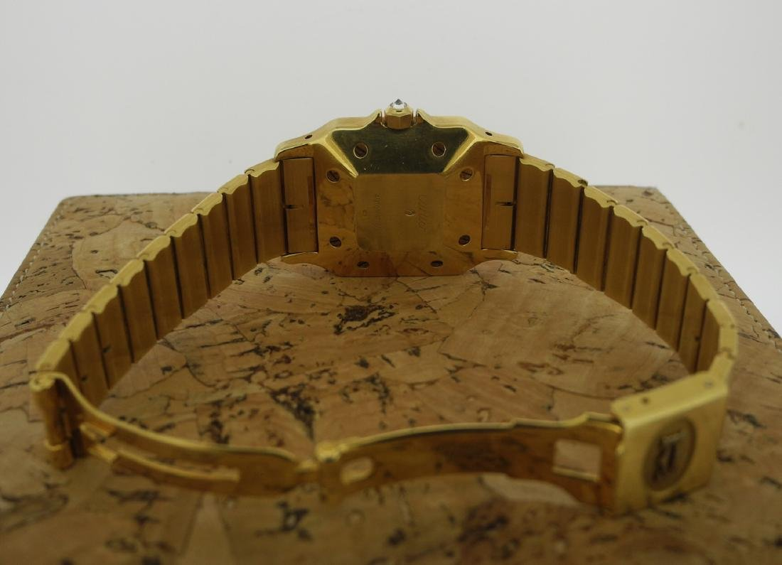 Cartier Santos in Yellow Gold with Diamonds on Case - 3