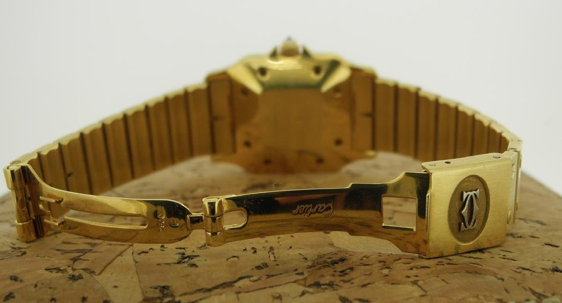 Cartier Santos in Yellow Gold with Diamonds on Case - 4