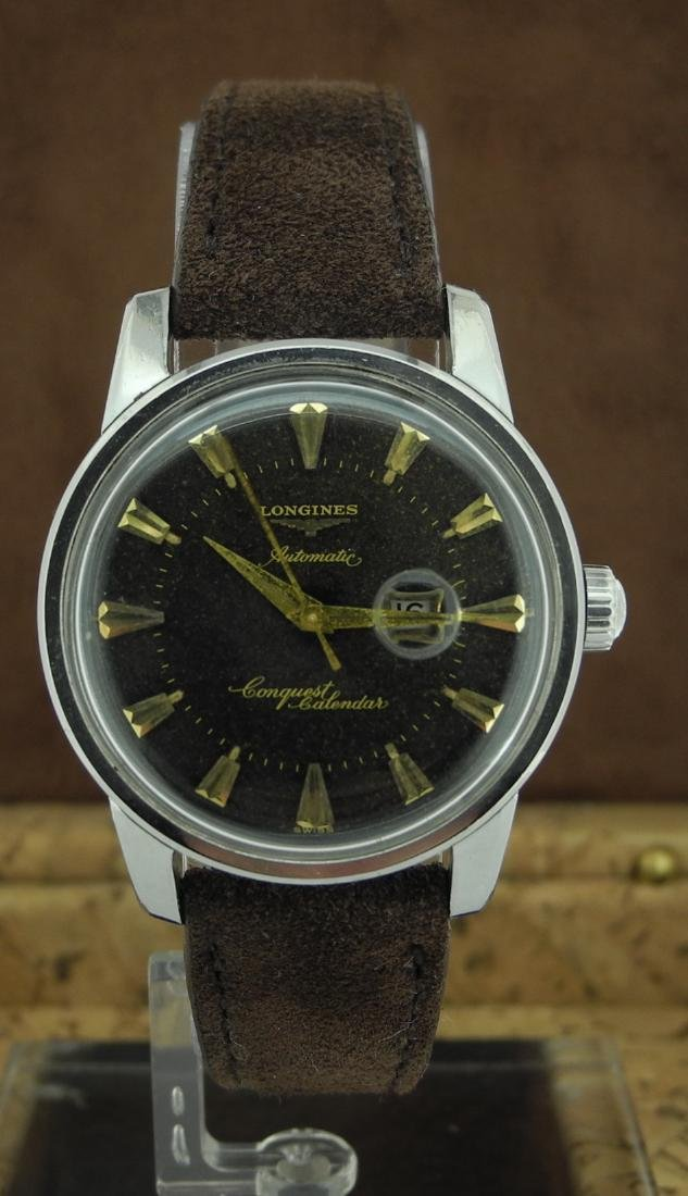 Longines  Conquest Automatic in Steel on Leather Strap