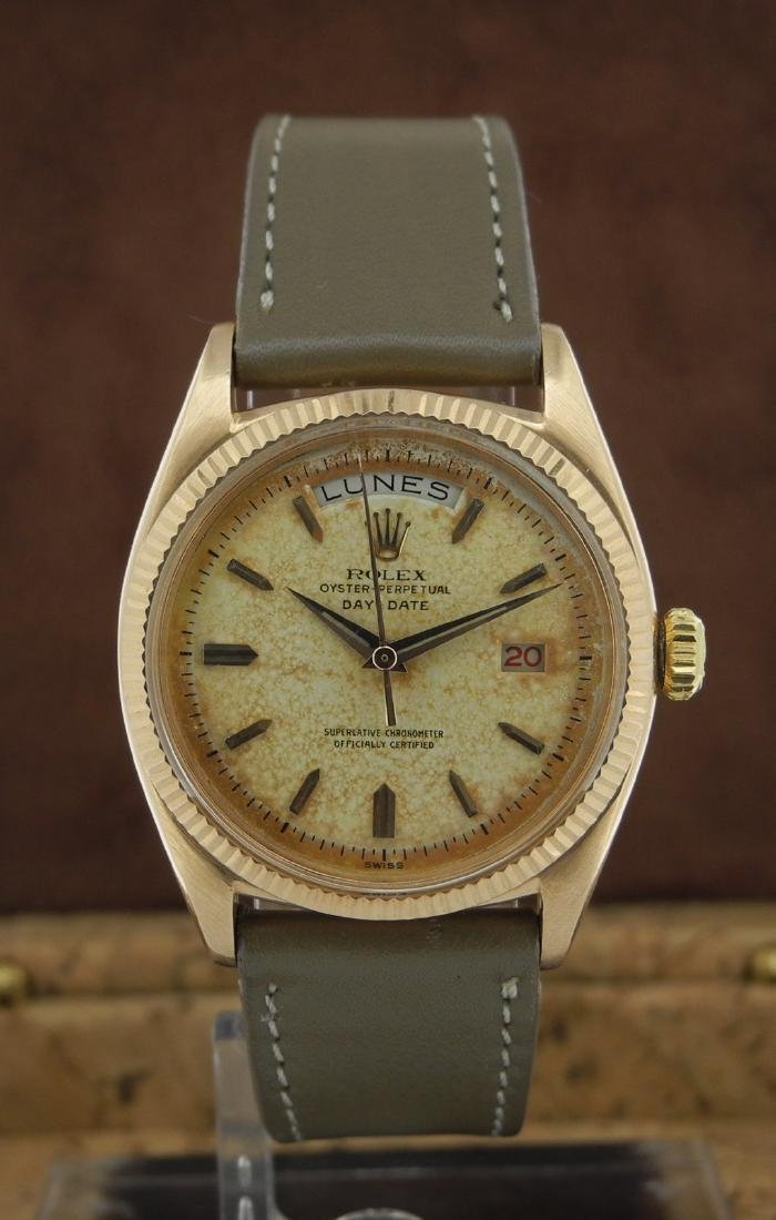 Rolex Day-Date 6611 in Pink Gold on Leather Strap