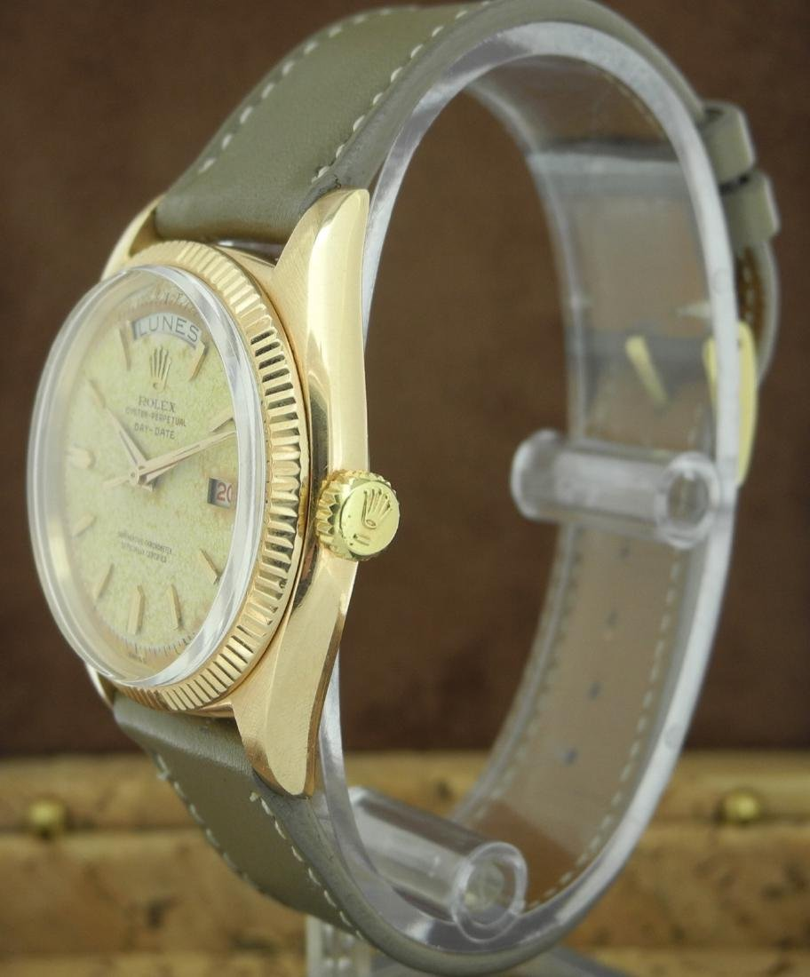 Rolex Day-Date 6611 in Pink Gold on Leather Strap - 2