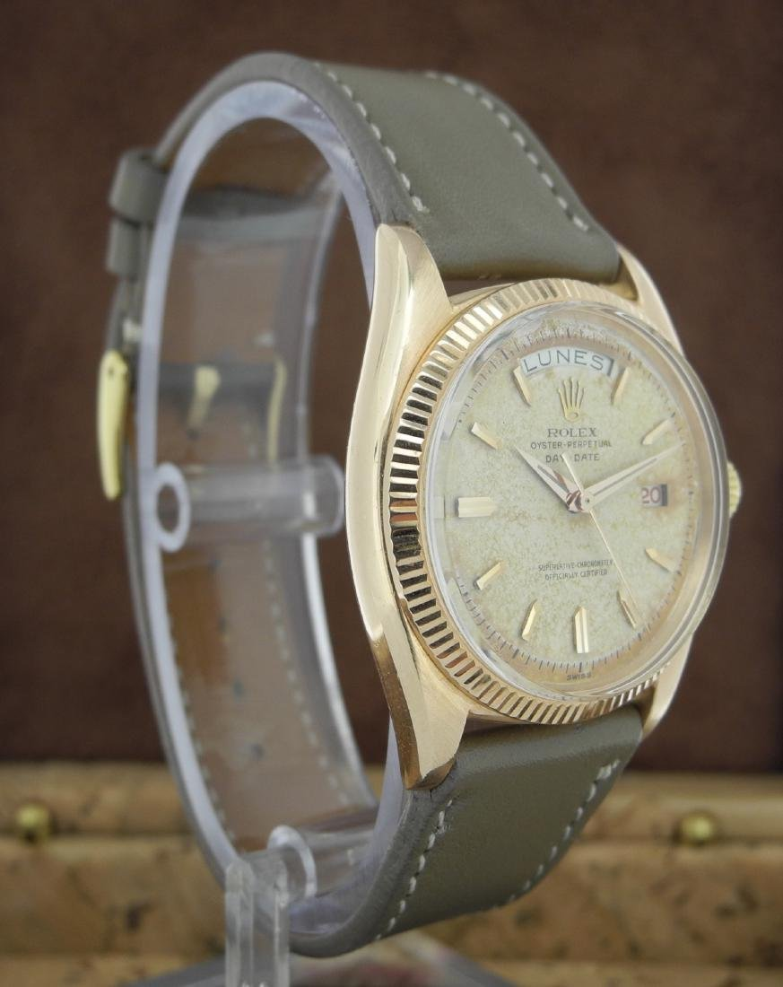 Rolex Day-Date 6611 in Pink Gold on Leather Strap - 3