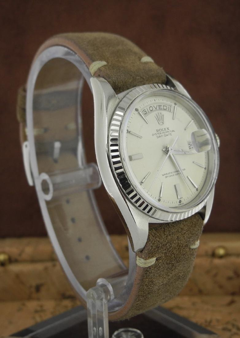Rolex Day-Date 1803 in White Gold with Leather Band - 5