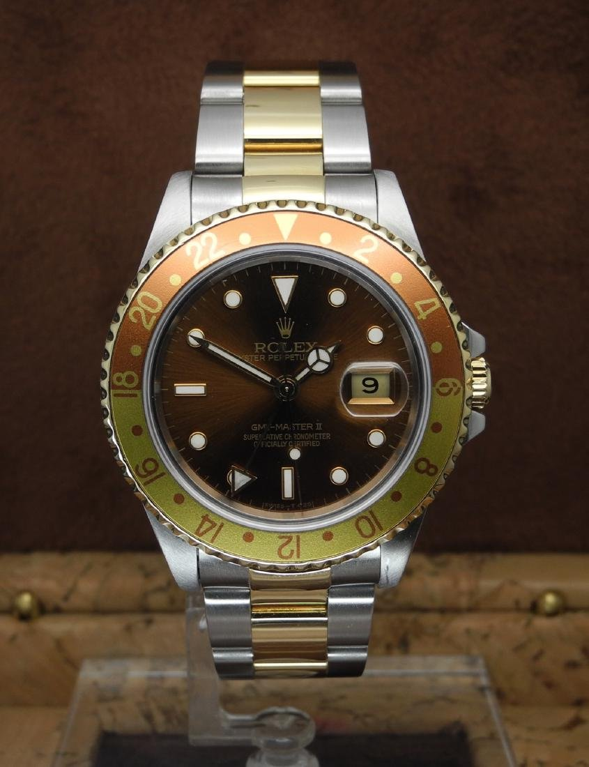 Rolex GMT-Master II 16713 Rootbeer in Two Tone Case