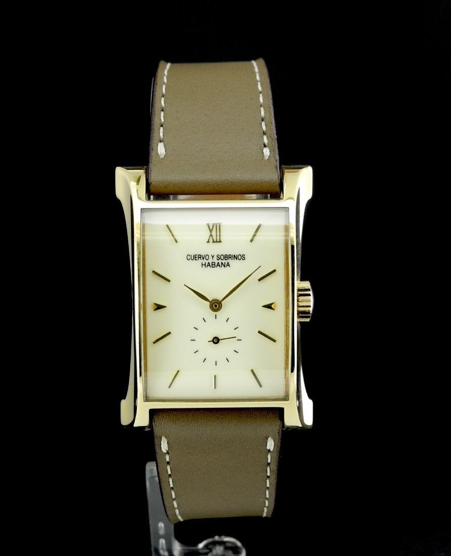 Cuervo y Sobrinos Esplendidos Automatic Watch in Gold