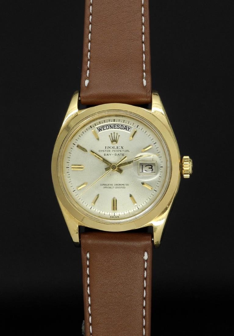 Rolex Day-Date 6612B with Smooth Bezel in Gold Case