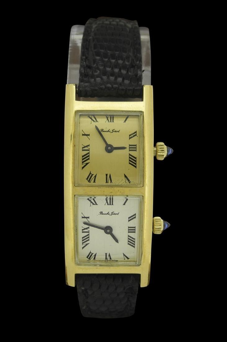 Bueche Girod Dual Time Manual Watch in Gold Case
