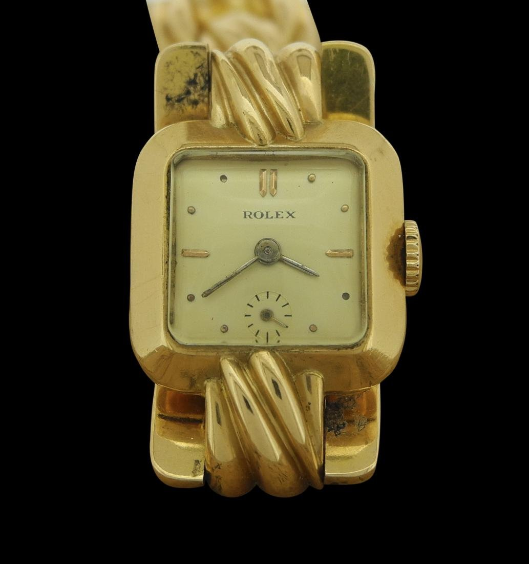 Rolex Ladies Bracelet in Yellow Gold