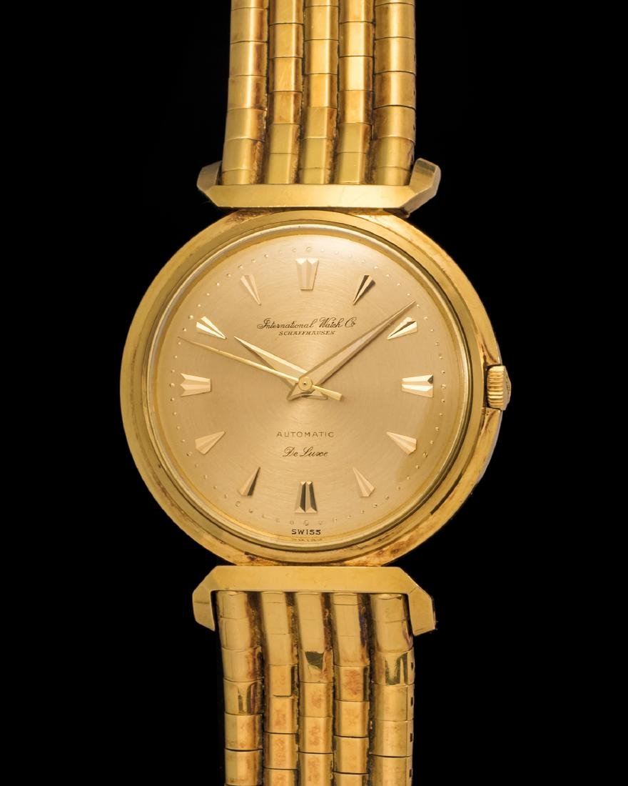 IWC DeLuxe Automatic Watch in Yellow Gold