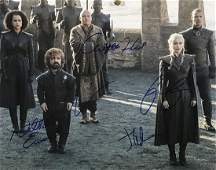 GAME OF THRONES Cast Signed 11x14 Photo