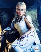 GAME OF THRONES Emilia Clarke Signed 11x14 Photo