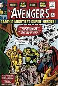 AVENGERS No 1 COMIC 9x12 Cover Photo SIGNED STAN LEE