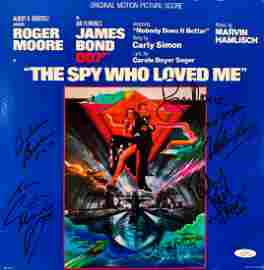 """JAMES BOND"" Cast Signed ""The Spy Who Loved Me"""