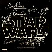 """STAR WARS"" RARE and AMAZING Cast Signed Soundtrack"