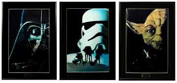 """""""STAR WARS"""" Set of 3 Chromart Original Trilogy Framed"""
