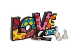 """ROMERO BRITTO """"Love"""" Sculpture w/Orig. Box"""
