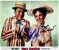 """""""MARY POPPINS"""" Signed 8x10 Photo by Dick Van Dyke and"""