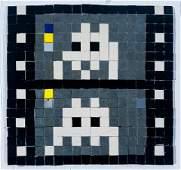 SPACE INVADER Original Mosaic Tile Art Los Angeles 2003