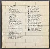 PINK FLOYD The Wall Orig Album Inserts with Vinyl