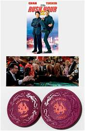 """RUSH HOUR 2"" Red Dragon Casino Prop Chips"