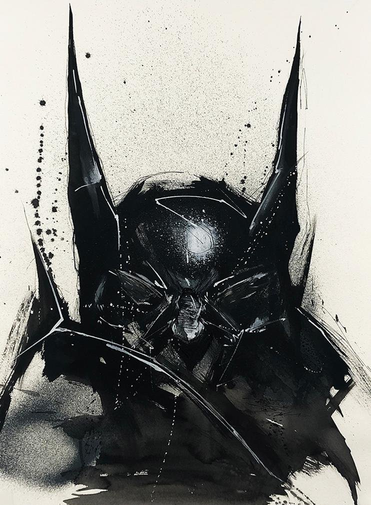 ANTISTATIK 'Batman' Original Watercolor on Paper