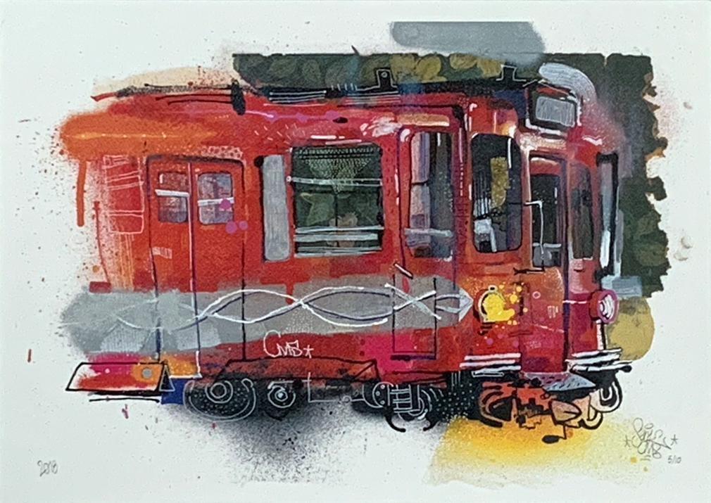 SENK 'Buenos Aires Subte B' Giclee Print
