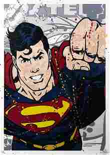 DEMAG Superman HandFinished Print