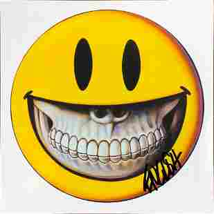 RON ENGLISH Grin Signed Sticker wPROOF