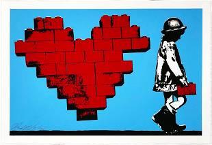 RENE GAGNON Dont LEGO My Heart Screen Print
