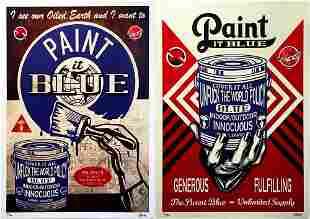 KLYDE Paint it Blue Series SET Giclee Print