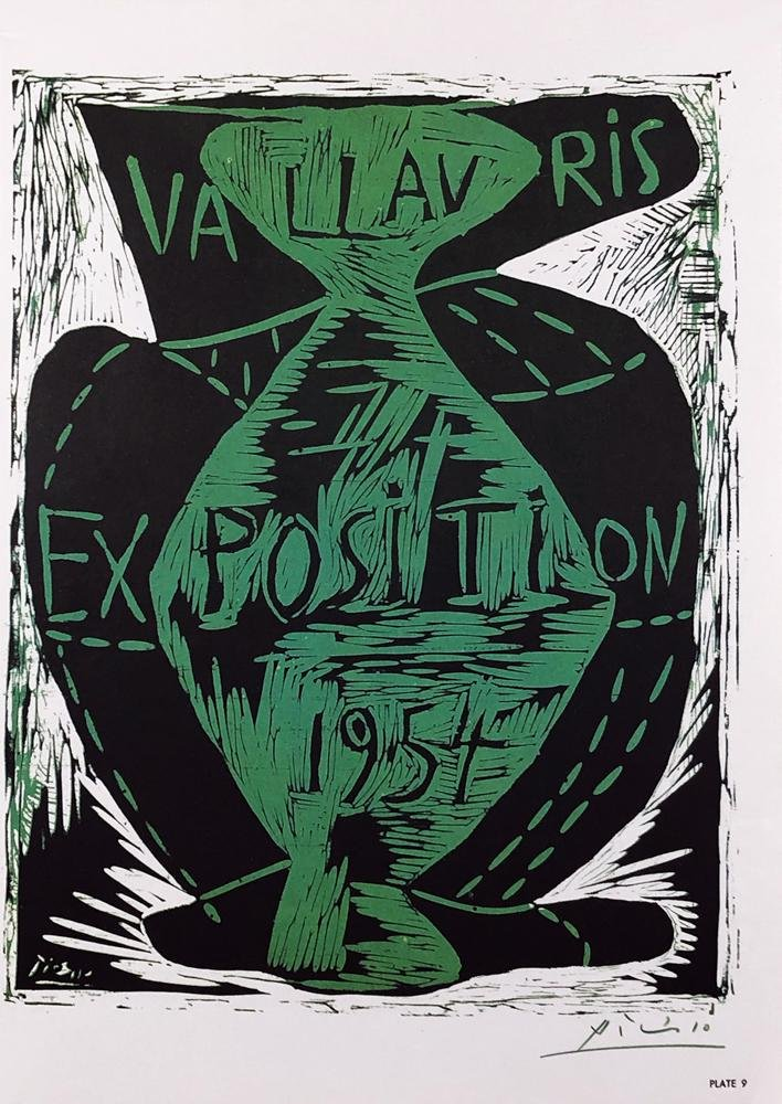PABLO PICASSO 'Vallauris Exposition' Signed