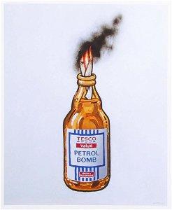 BANKSY 'Tesco Petrol Bomb' Screen Print