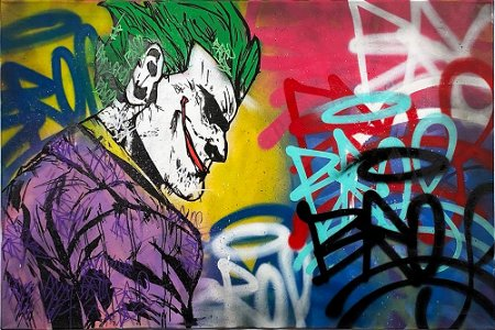 FREDA PEOPLE 'The Joker' Original Mixed Media/Canvas
