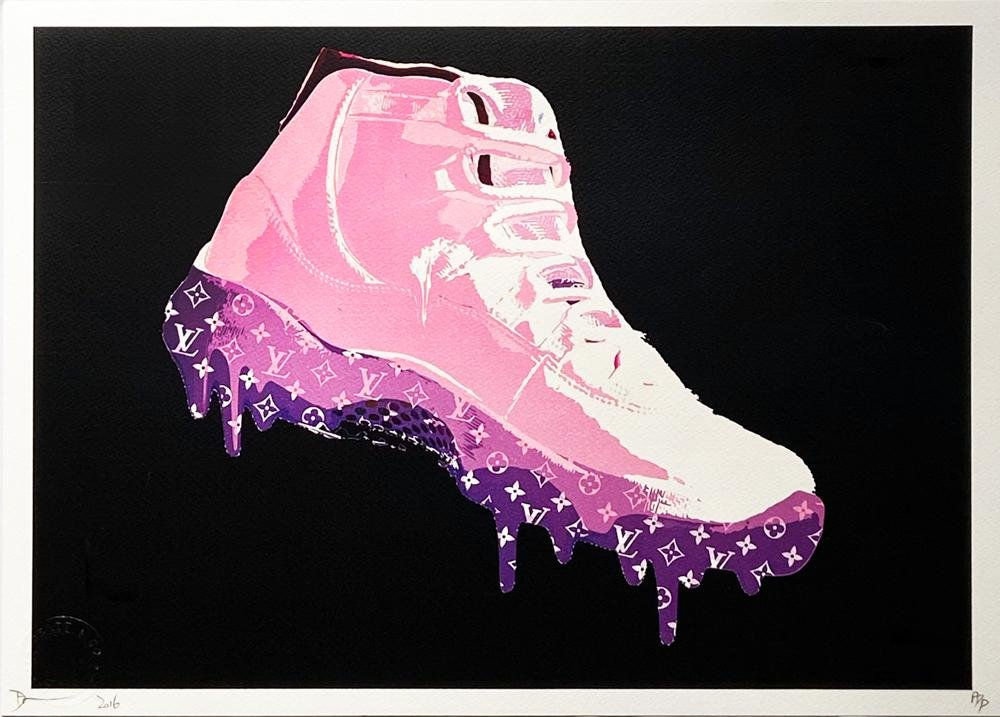 DEATH NYC 'Air Jordan LV Drip' (pink) Lithograph Print