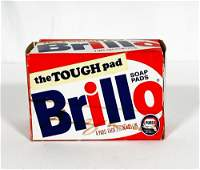 ANDY WARHOL 'Brillo Box' Signed in Custom Display