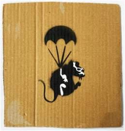 BANKSY 'Parachuting Rat' (Dismaland) ORIGINAL
