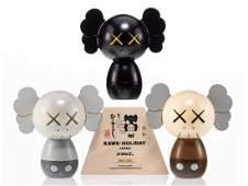 KAWS 'Kokeshi Doll Set' Limited Original New in Box