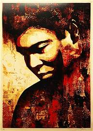 SHEPARD FAIREY 'Ali Canvas Print' Screen Print
