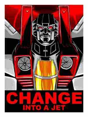 TIM DOYLE 'Change into a Jet' Screen Print
